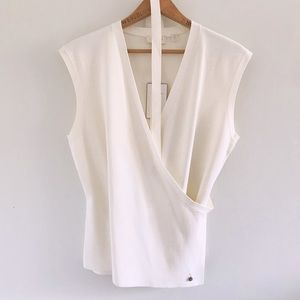 NWT Ted Baker Knit Cream Top